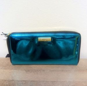 Foley + Corinna Large Zip Wallet Teal Wallet